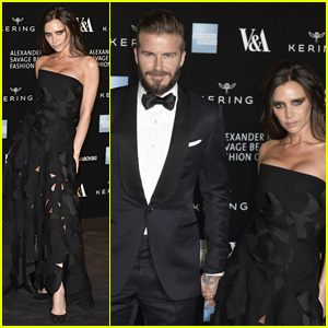 David & Victoria Beckham Make One Hot Couple at Alexander McQueen's Savage Beauty Fashion Gala