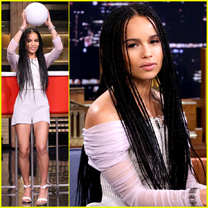 Zoe Kravitz Plays Giant Beer Pong with Jimmy Fallon on 'The Tonight Show' - Watch Here!