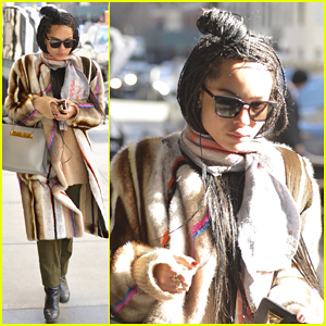 Zoe Kravitz Returns to New York After Busy Oscars Weekend!