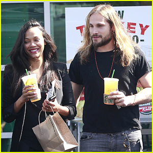 Zoe Saldana Looks So Happy While Out with Hubby Marco Perego