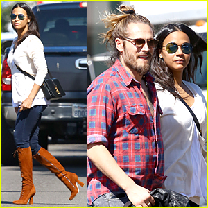 Zoe Saldana & Marco Perego Bought Matching Carriers For Twin Boys