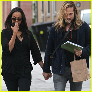Zoe Saldana & Marco Perego Take St. Patrick's Day Meeting