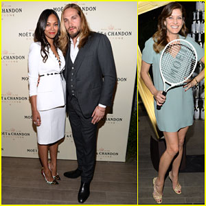 Zoe Saldana & Marco Perego Are One Hot Couple at Moet & Chandon Event