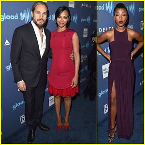 Zoe Saldana & Samira Wiley Get Colorful at the GLAAD Awards 2015