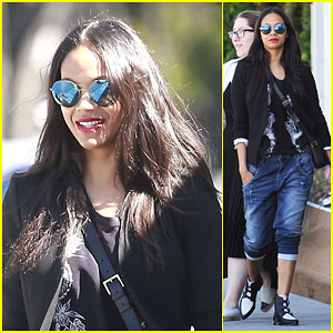 Zoe Saldana Gives Well Wishes to Harrison Ford with a 'Star Wars' Reference