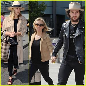 Elizabeth Olsen & Aaron Taylor-Johnson Arrive in London for 'Avengers' Premiere!