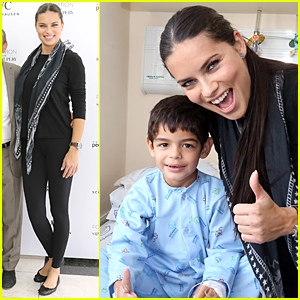 Adriana Lima Opens New Library at Children's Hospital in Brazil