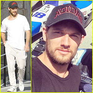 Alex Pettyfer Hits Race Track to Support Conor Daly