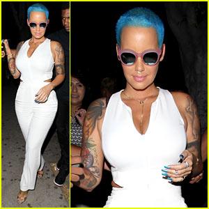Amber Rose Dyes Hair Blue, Reunites with Wiz Khalifa