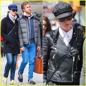 Anne Hathaway Takes a Break From Her One-Woman Show to Hang With Hubby Adam Shulman
