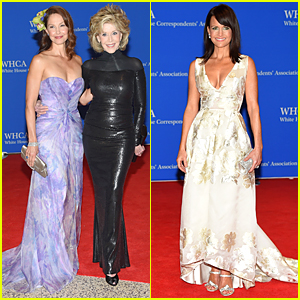 Ashley Judd & Jane Fonda Meet Up at White House Correspondents' Dinner 2015