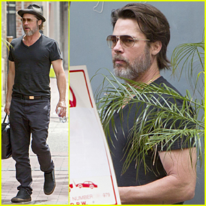 Brad Pitt Flaunts Muscles on 'Big Short Set'