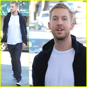 Calvin Harris Looks Pretty Fine After Food Poisoning Incident