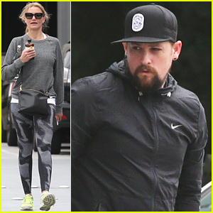 Cameron Diaz & Benji Madden Keep Their Distance While Running Errands