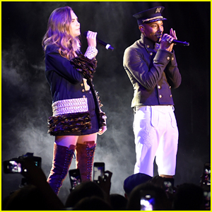 Cara Delevingne Performs Duet 'CC The World' with Pharrell Williams at NYC Fashion Event - Watch Clip Here!