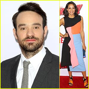 Charlie Cox & Rosario Dawson Premiere 'Daredevil' in Los Angeles