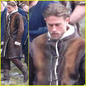 Charlie Hunnam as King Arthur - First On Set Photos!