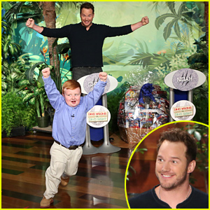 Chris Pratt & Viral Video Kid Noah Ritter Test Their Dinosaur Knowledge - Watch Now!
