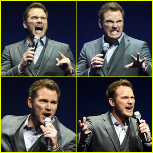 Chris Pratt Makes the Best Faces Ever at CinemaCon 2015