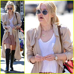 Dakota Fanning Strolls In New York City After 'Effie Gray' Premiere