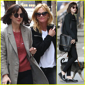 Dakota Johnson Hangs Out with Mom Melanie Griffith