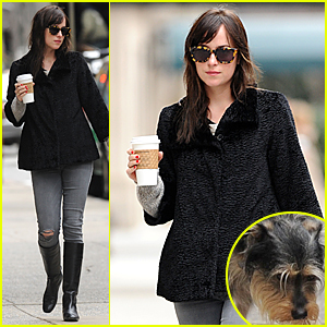 Dakota Johnson Is All About the Coffee in NYC