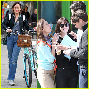 Dakota Johnson Practices Lines During 'How to Be Single' Break