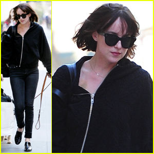 Dakota Johnson Steps Out for Casual Sunday with Pup Zeppelin