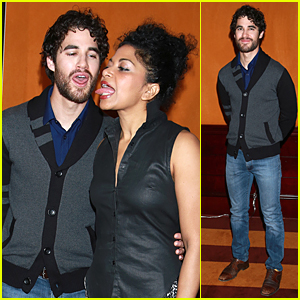 Darren Criss Has Tongue Wagging Good Time at 'Hedwig and the Angry Inch' Photo Call