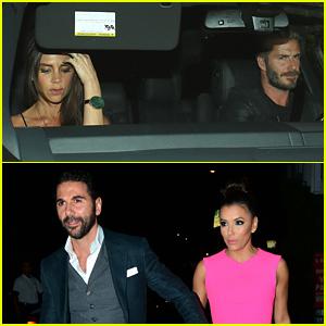 David & Victoria Beckham Double Date with Eva Longoria & Her Boyfriend Jose Baston