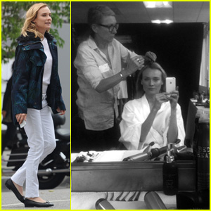 Diane Kruger Films Chanel Commercial in Los Angeles.