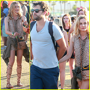 Diane Kruger & Joshua Jackson Hold Hands at Coachella