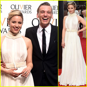 Dianna Agron & Jamie Campbell Bower Present At Olivier Awards 2015