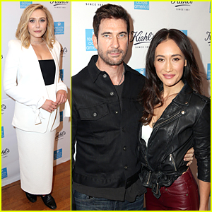 Elizabeth Olsen & Maggie Q Raise Money For Recycle Across America With Kiehl's