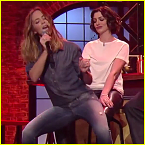 Emily Blunt Grinds Up on Anne Hathaway in 'Lip Sync Battle' Teaser - Watch Now!