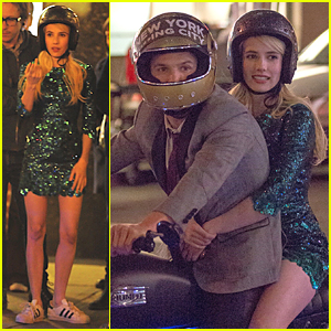 Emma Roberts Has The Nerve To Take Motorcycle Ride Emma Roberts Just Jared
