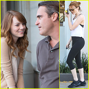 Emma Stone Has Her Eyes On Joaquin Phoenix in 'Irrational Man' Still