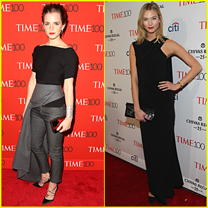 Emma Watson & Karlie Kloss Stun in Black at Time 100 Gala