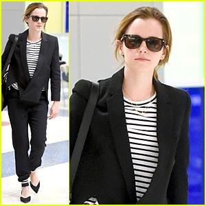 Emma Watson Makes 25 Look So Good at JFK Airport