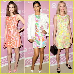 eba731b3a8c Emmy Rossum   Kate Bosworth Are Full of Colors at Lilly Pulitzer For Target  Launch