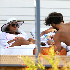 Eva Longoria Takes In Miami with Boyfriend Jose Baston