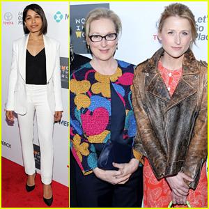 Freida Pinto, Meryl Streep & Daughter Mamie Gummer Represent Powerful Ladies at Women In World Summit 2015!