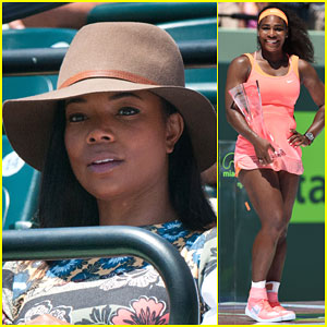 Gabrielle Union Cheers On Serena Williams at Miami Open