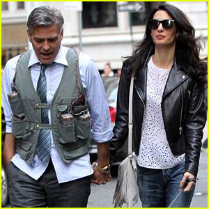 Amal Clooney Visits Husband George Clooney on His Movie Set!