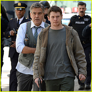 George Clooney & Jack O'Connell Film Intense 'Money Monster' Scene in NYC