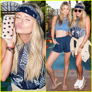 Gigi Hadid & Alli Simpson Get Their Sonix Fix at Just Jared's Festival Party!