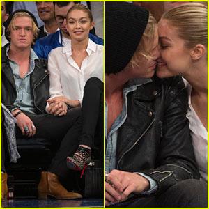 Gigi Hadid & Cody Simpson Share Some Courtside PDA!