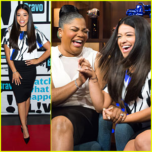 Gina Rodriguez Picks Team Michael For Jane on 'Watch What Happens Live'