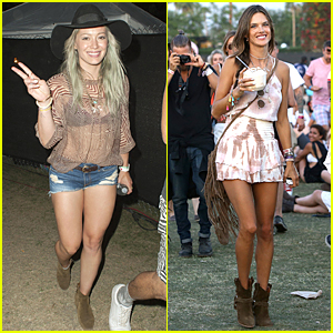Hilary Duff & Alessandra Ambrosio Are All About Legs & Boots at Coachella