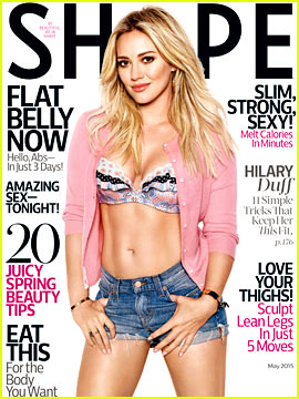 Hilary Duff Bares Her Amazing Abs for 'Shape' Magazine Cover